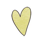 Earth Day- Lime Cardstock Heart