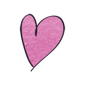 Earth Day- Pink Cardstock Heart