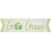 Earth Day- Go Green Word Art