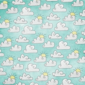 Earth Day Mini- Clouds Doodle Paper