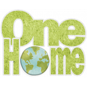 Earth Day Mini- One Home Word Art