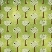 Earth Day- Dark Green Tree Paper