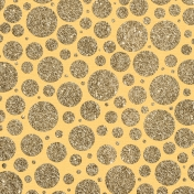 Yellow Glitter Circles Paper
