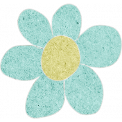 Teal Cardstock Flower
