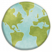 Earth Day Globe Sticker