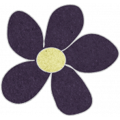 Purple Cardstock Flower
