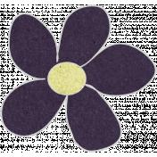Purple Cardstock Flower