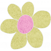 Lime Cardstock Flower