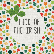 Luck of the Irish Word Art