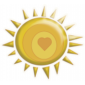 Sunshine and Lemons- Sun Sticker