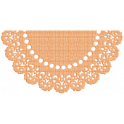 One Stop Bunting Shop- Flag Orange Doily 2
