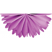 One Stop Bunting Shop- Flag Purple Paper