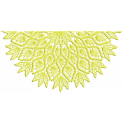 One Stop Bunting Shop- Flag Yellow Lace