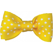 One Stop Bunting Shop- Yellow Polka Dot Bow