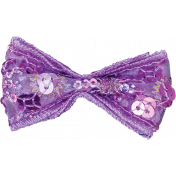 One Stop Bunting Shop- Purple Sequin Bow