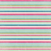 Hello Multi Colored Stripe Paper