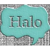 Hello Speech Bubble- Halo