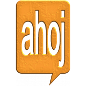 Hello Speech Bubble- Ahoj 2