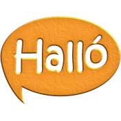 Hello Speech Bubble- Halló
