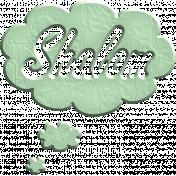 Hello Speech Bubble- Shalom