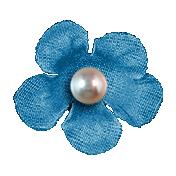 Hello- Blue Flower