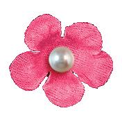Hello- Dark Pink Flower