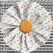 Hello- Fabric Flower