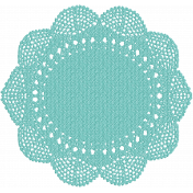 Hello- Teal Doily
