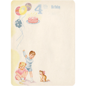 Oh Baby, Baby- Fourth Birthday Journal Card