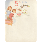 Oh Baby, Baby- Fifth Birthday Journal Card