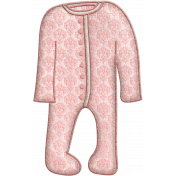 Oh Baby, Baby- Doodled Pink Sleeper 1