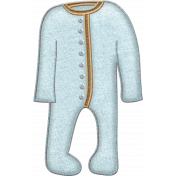 Oh Baby, Baby- Doodled Blue Sleeper 1