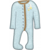 Oh Baby, Baby- Doodled Blue Sleeper 2