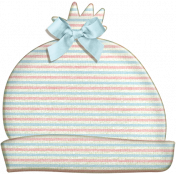 Oh Baby, Baby- Doodled Hat with Blue Bow