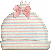 Oh Baby, Baby- Doodled Hat with Pink Bow