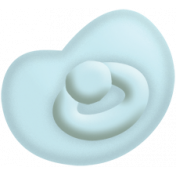 Oh Baby, Baby- Doodled Blue Pacifier