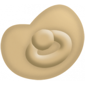 Oh Baby, Baby- Doodled Tan Pacifier