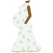 Oh Baby, Baby- Doodled Pregnant Silhouette 1