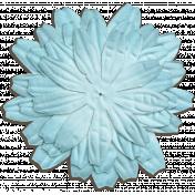Oh Baby Blue Silk Flower