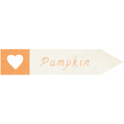 "Oh Baby ""Pumpkin"" Word Art"