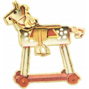 Oh Baby, Baby- June 2014 Blog Train Mini- Horse On Wheels Toy