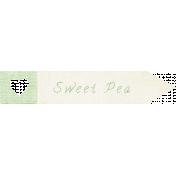 "Oh Baby ""Sweet Pea"" Word Art"