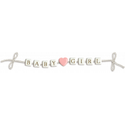 Oh Baby Girl Bead Banner (shadowed)