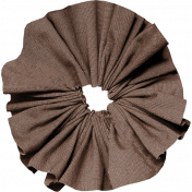 Many Thanks- Brown Fabric Accordian Flower