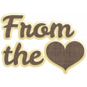 Many Thanks- From the Heart Word Art