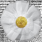 Many Thanks- White Tulle Flower