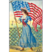 Independence- 4th of July Postcard