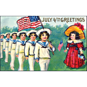 Independence- July 4th Greetings Postcard