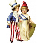 Independence- Vintage Patriotic Kids