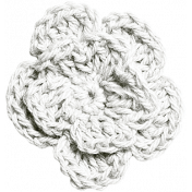 Independence- White Crochet Flower
